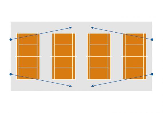 Oostendorp Nederland Tennis 4baans Zij Img1